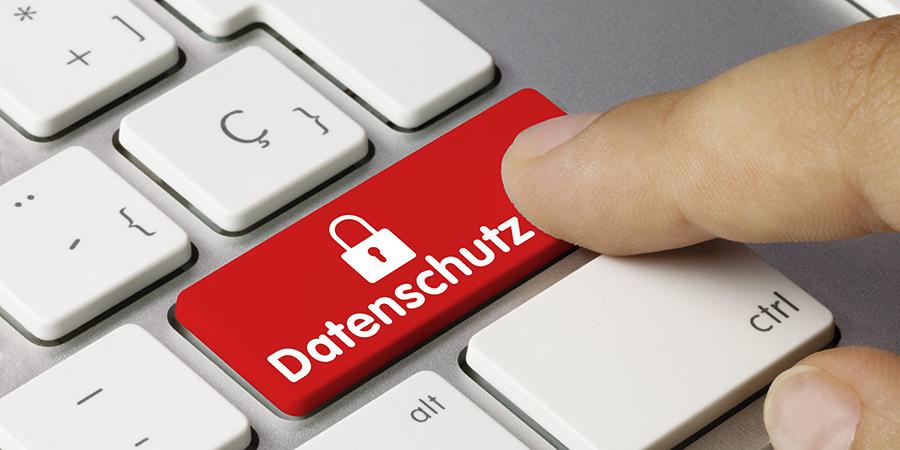 Datenschutz Taste auf Tastatur